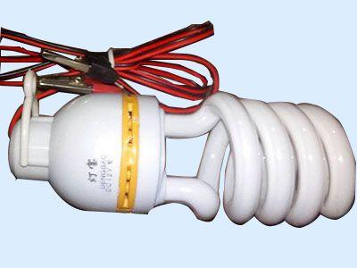 中螺型直流12V带线节能灯